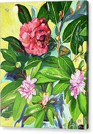 Still Life Of Flowers Acrylic Print by Joseph Demaree