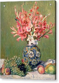 Still Life Of Fruits And Flowers Acrylic Print