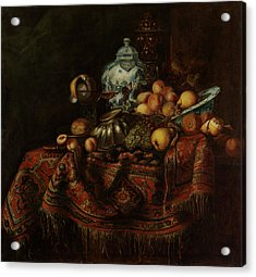 Still Life Of Fruits And Opulent Objects Acrylic Print by Michael Durst