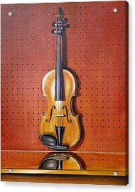 Still Life Of Violin Acrylic Print by RB McGrath