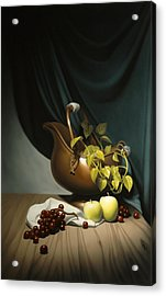 Still Life Painting Zanndam Evening Acrylic Print by Eric Bossik