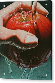 Still Life Sabotage Acrylic Print by Holly  Bedrosian