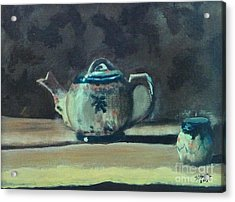 Still Life Teapot And Sugar Bowl Acrylic Print