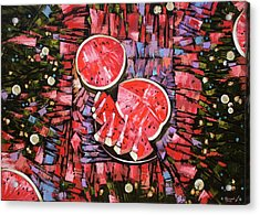 Acrylic Print featuring the painting Still Life. The Taste Of Summer. by Anastasija Kraineva