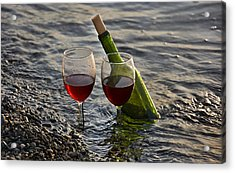 Still Life Wine At The Beach Acrylic Print