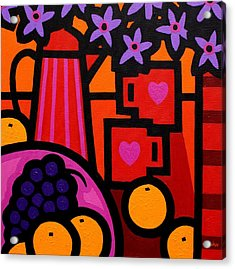 Still Life With 2 Hearts Acrylic Print by John  Nolan