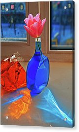 Acrylic Print featuring the photograph Still Life With A Flower by Vladimir Kholostykh