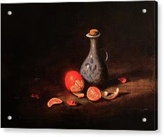 Still Life With A Little Dutch Jug Acrylic Print