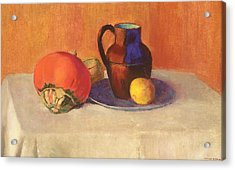 Still Life With A Pitcher Acrylic Print