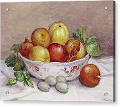 Still Life With A Pomegranate Acrylic Print by Pierre Auguste Renoir