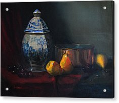 Still Life With Antique Dutch Vase Acrylic Print