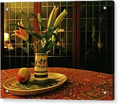 Acrylic Print featuring the photograph Still Life With Apple by Anne Kotan