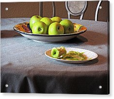Still Life With Apples And Chair Acrylic Print