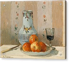 Still Life With Apples And Pitcher, 1872  Acrylic Print