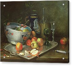Still Life With Apples Acrylic Print