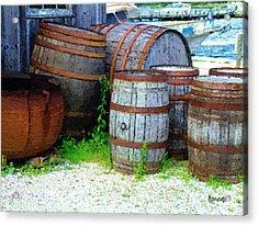 Still Life With Barrels Acrylic Print by RC DeWinter