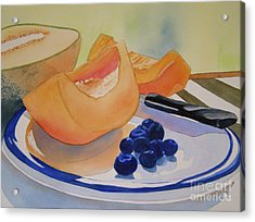 Still Life With Blueberries Acrylic Print by Teresa Boston