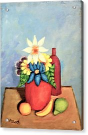 Still Life With Bottle Acrylic Print