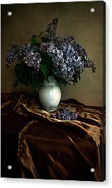 Acrylic Print featuring the photograph Still Life With Bouqet Of Fresh Lilac by Jaroslaw Blaminsky