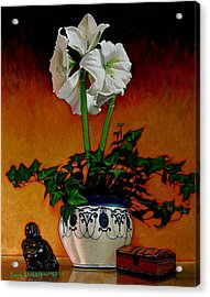 Still Life With Buddha Acrylic Print by Doug Strickland