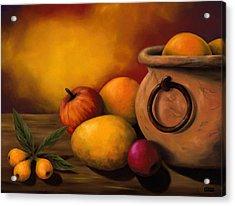 Still Life With Ceramic Pot Acrylic Print by Enaile D Siffert
