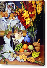 Still Life With Cezanne Acrylic Print