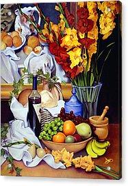 Still Life With Cezanne Acrylic Print