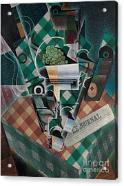 Still Life With Checked Tablecloth, 1915 Acrylic Print by Juan Gris