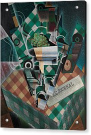 Still Life With Checked Tablecloth Acrylic Print by Juan Gris