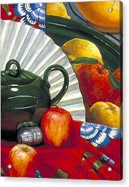 Still Life With Citrus Still Life Acrylic Print by Nancy  Ethiel