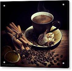 Still Life With Coffee Acrylic Print by Magda  Bognar