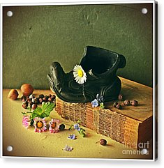Still Life With Daises Acrylic Print