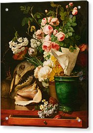 Still Life With Flowers Acrylic Print by Antoine Berjon