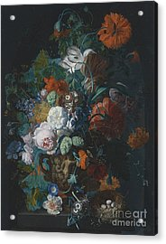 Still Life With Flowers Acrylic Print by Celestial Images