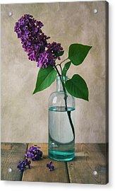 Acrylic Print featuring the photograph Still Life With Fresh Lilac by Jaroslaw Blaminsky