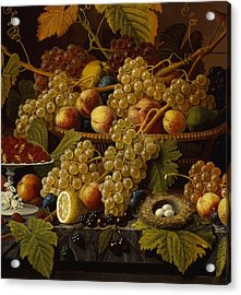 Still Life With Fruit, 1854 Acrylic Print by Severin Roesen