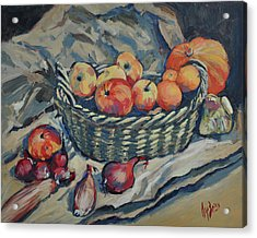 Still Life With Fruit And Vegetables Acrylic Print