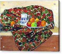 Still Life With Fruit Acrylic Print by Ethel Vrana