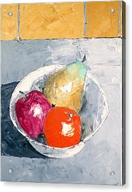 Still Life With Fruit In Bowl Acrylic Print