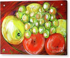 Still Life With Fruit. Painting Acrylic Print