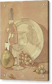 Still Life With Glass And Plate  Acrylic Print