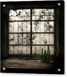 Still-life With Glass Bottle Acrylic Print by Vito Guarino