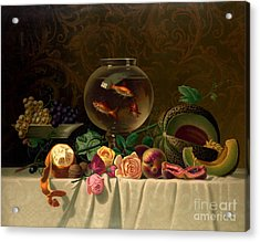 Still Life With Goldfish 1873 Acrylic Print by Padre Art