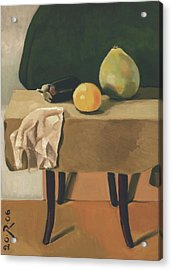 Still-life With Grapefruit Acrylic Print by Raimonda Jatkeviciute-Kasparaviciene