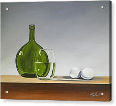 Still Life With Green Bottle Acrylic Print