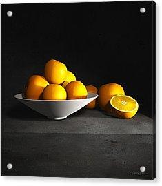 Still Life With Oranges Acrylic Print by Cynthia Decker