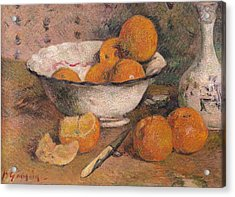 Still Life With Oranges Acrylic Print by Paul Gauguin