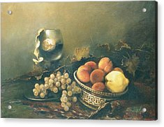 Still-life With Peaches Acrylic Print