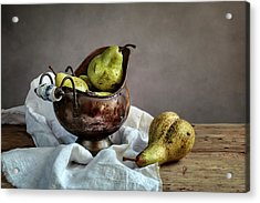 Still-life With Pears Acrylic Print by Nailia Schwarz