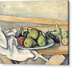 Still Life With Pears Acrylic Print by Paul Cezanne